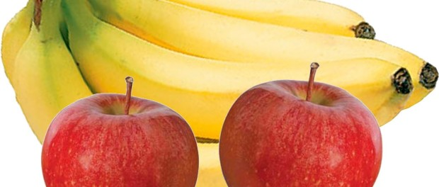 Bananas and Apples as an effective natural remedy for Heartburn